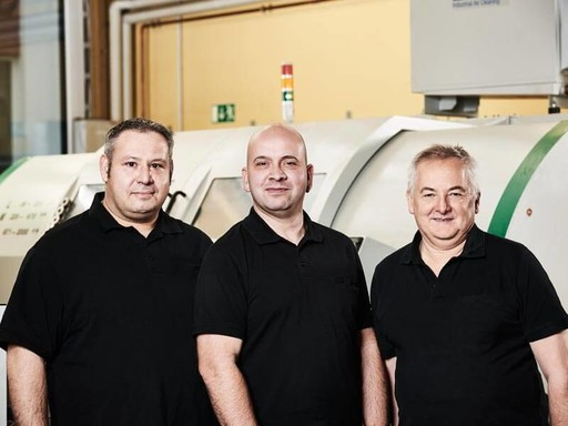 The three trainers for our apprentices at Hübner Giessen.