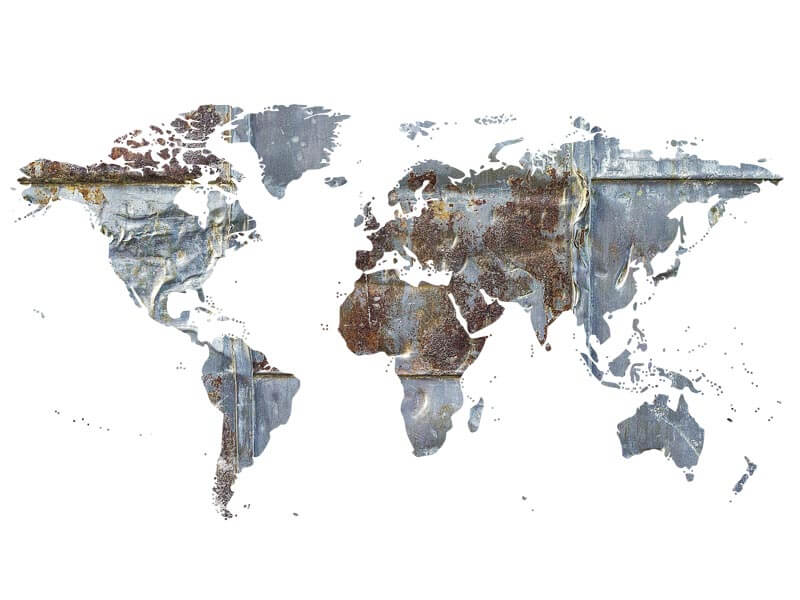 worldmap metal optic